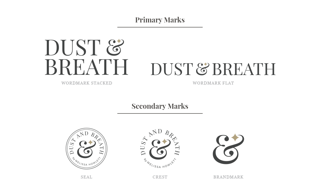dust and breath logo system